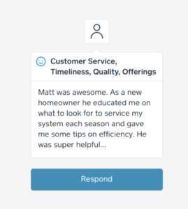 Aurora Testimonial: Matt was awesome. As a new homeowner he educated me on what to look for to service my system each season and gave me tips on efficiency. He was super helpful...
